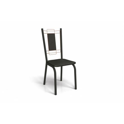 Cadeira Florença Crome 2 Peças 2C078 Kappesberg Preto Fosco com Rosê