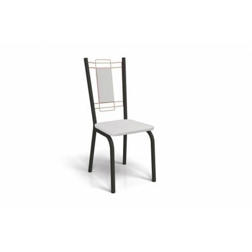Cadeira Florença Crome 2 Peças 2C078 Kappesberg Preto Fosco com Rosê e Branco