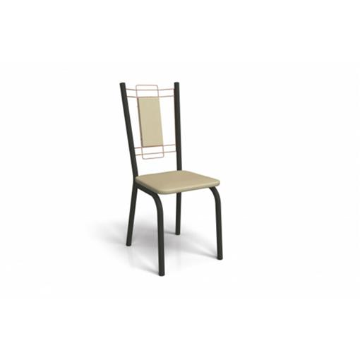 Cadeira Florença Crome 2 Peças 2C078 Kappesberg Preto Fosco com Rosê e Nude