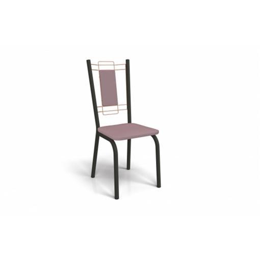 Cadeira Florença Crome 2 Peças 2C078 Kappesberg Preto Fosco com Rosê e Salmão