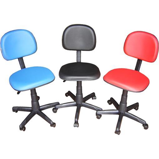 Cadeira Secretária Realme Giratória em Couro Ecológico Azul