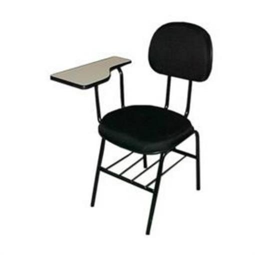 Cadeira Universitária Uni-01 em Tecido Preto MQ14 Pethiflex