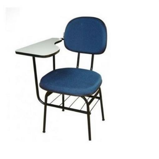 Cadeira Universitária realme c/Porta Livros Tecido Azul