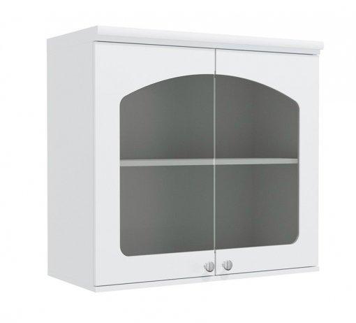 Armário de Cozinha Aéreo Kappesberg G625 2 Portas com Vidro Branco