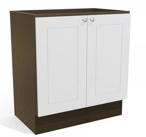 Balcão de Cozinha  Kappesberg G605 2 Portas 80cm Jacaranda com Branco