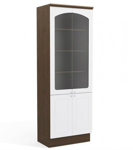 Balcão de Cozinha Kappesberg G612 4 Portas Alto Jacaranda com Branco
