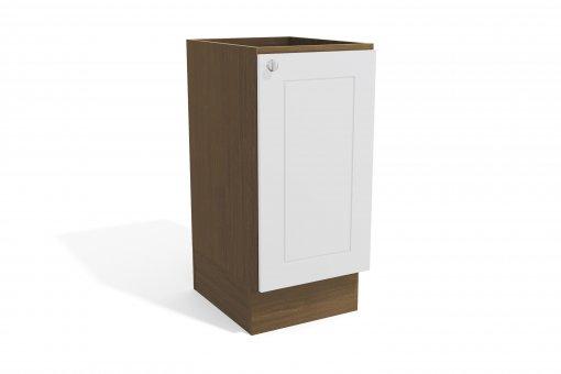 Balcão de Cozinha Kappesberg G602 1 Porta 60cm Jacaranda Fosco/Branco Brilho