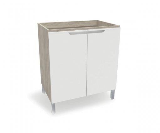 Balcão de Cozinha Kappesberg D645 2 Portas Carvalle com Branco