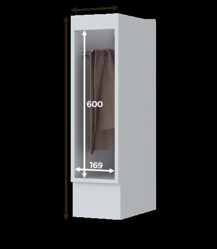 Balcão Porta Toalha Henn Americana 200mm Branco