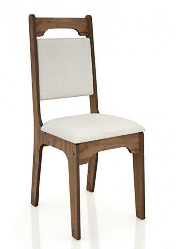 Cadeira Alta 18mm Assento Estofado CA29 Dalla Costa Nobre com Linho Claro