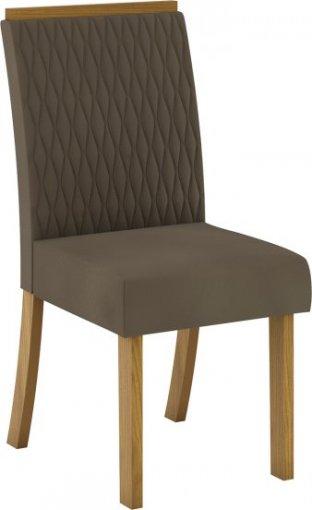 Conjunto 02 Cadeiras Henn Vega Nature/Bege