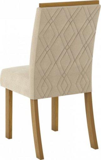 Conjunto 02 Cadeiras Henn Vita Nature/Linho