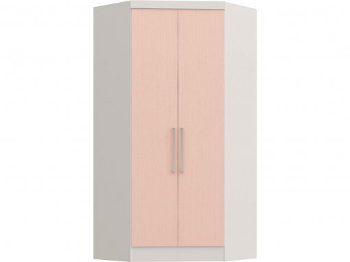 Guarda Roupa Castro Infinity Canto Closet 02 Portas Branco Rosa