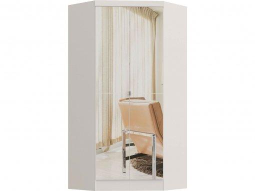 Guarda Roupa Castro Infinity Canto Closet 02 Portas C/Espelho Branco MDP