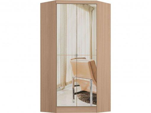 Guarda Roupa Castro Infinity Canto Closet 02 Portas com Espelho Nogueira