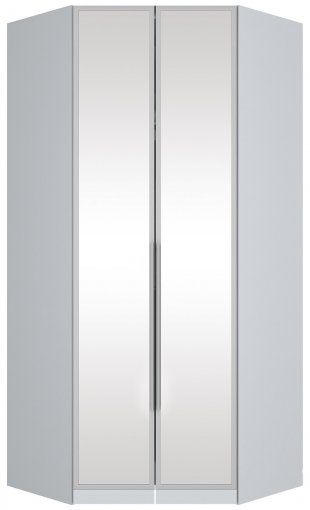 Canto Closet 2 Portas com Espelho Exclusive Henn Branco HP