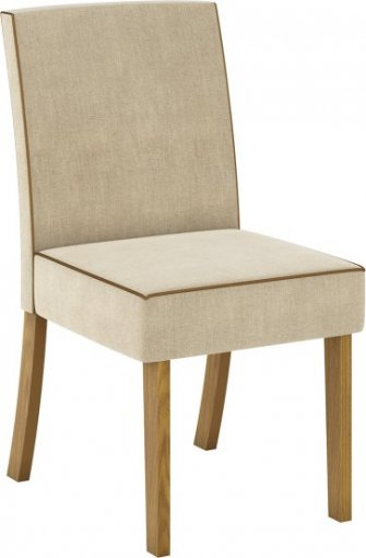 Conjunto 02 Cadeiras Henn Maris Nature/Linho
