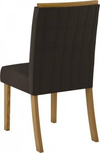 Conjunto 02 Cadeiras Henn Tauá Nature/Marrom