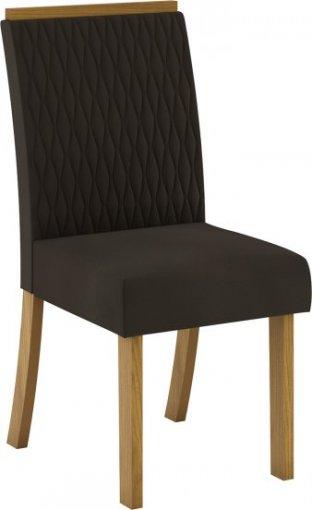 Conjunto 02 Cadeiras Henn Vega Nature/Marrom