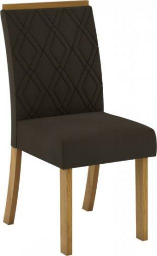 Conjunto 02 Cadeiras Henn Vita Nature/Marrom