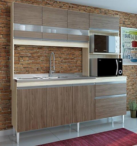 Cozinha Compacta Prince 7 Portas 2 Gavetas 245 Casamia natura com nover