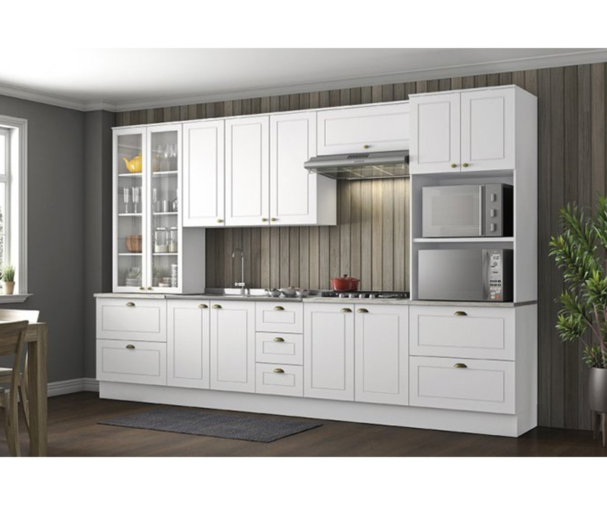 Cozinha Modulada Henn Americana Branco HP 6 Peças