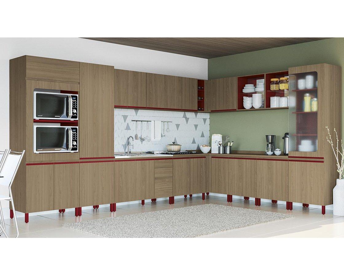 Cozinha Modulada Kappesberg New Urban Nature/Marsala