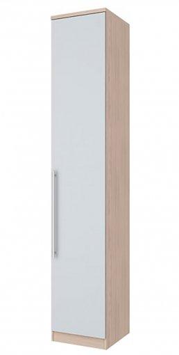 Guarda Roupa 1 Porta 40cm Henn Diamante Fendi/Branco HP