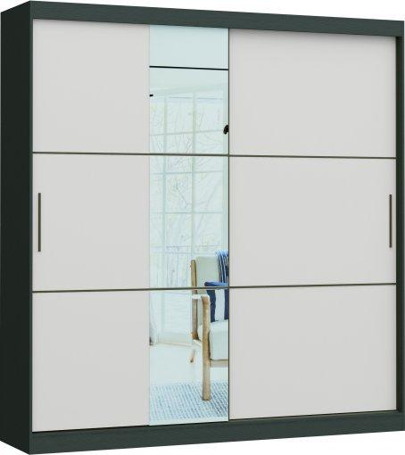 Guarda Roupa Dante Linha Quarto Castro 2 Portas 1 Espelho MDP
