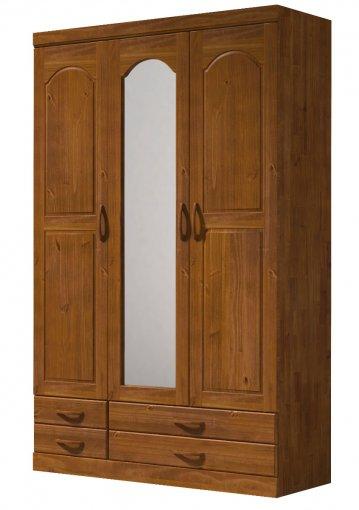 Guarda Roupa Finestra 1010 Parma 3 Portas com Espelho Imbuia