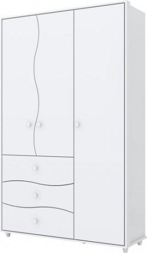 Guarda Roupa Henn Adoleta 03 Portas 03 gavetas Branco