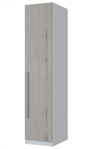 Guarda Roupa 1 Porta 30cm Exclusive Henn Branco HP com Carvalho
