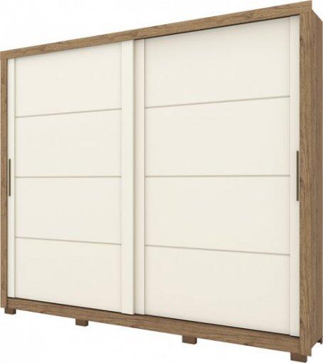 Guarda Roupa Henn Palace 02 Portas Deslizantes Rústico/Off White