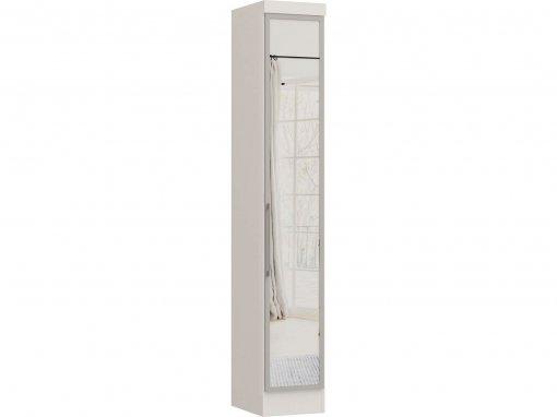 Guarda Roupa Castro Infinity 01 Porta com Espelho e Moldura Branco