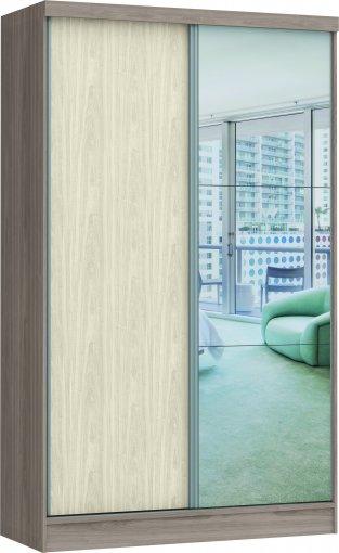 Guarda Roupa Prisma Glass Linha Quarto Castro 2 Portas C/Esp Colado