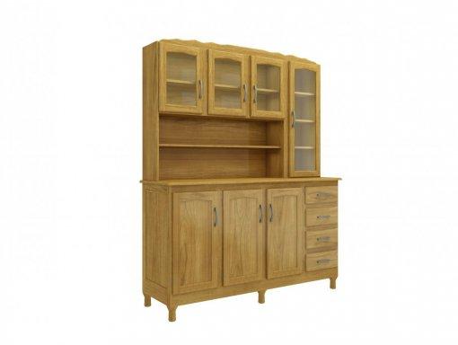 Kit Cozinha Genebra 7 portas 4810 MPO Clássica Imbuia