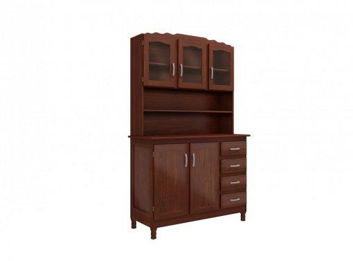 Kit Cozinha Portugal 05 Portas 4800 MPO Clássica Mogno