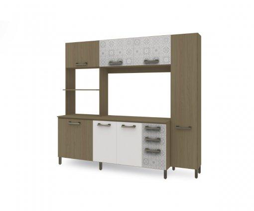 Kit de Cozinha Compacta Kappesberg E780 Nature com Branco