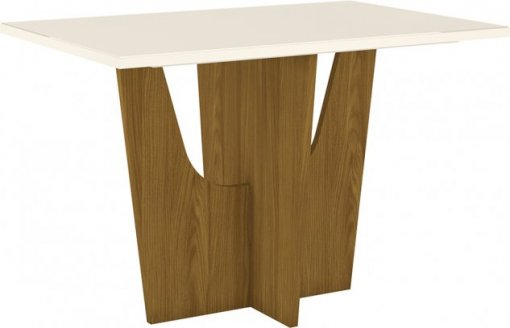 Mesa Henn Vértice 1200mm 04 Lugares Nature/OFF White
