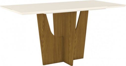 Mesa Henn Vértice 1600mm 06 Lugares Nature/Off White