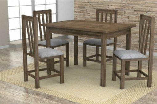 Mesa Rústica com 4 Cadeiras Itália Móveis Dolimar Rústico