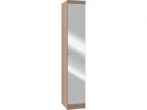 Guarda Roupa Castro Requinte 01 Porta com Espelho Amêndoa MDF