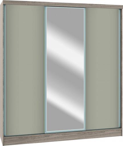 Módulo Roupeiro Requinte Castro 6250M 3 Portas c/ 1 Espelho  Moldura Alumínio MDF