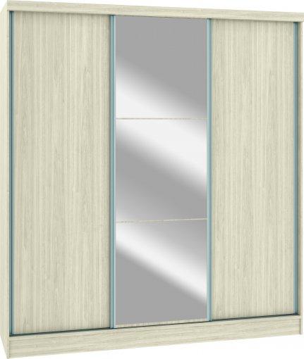 Módulo Roupeiro Requinte Castro 6250M 3 Portas UV Com Espelho Colado 100% MDF