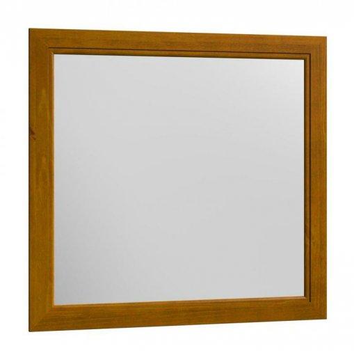 Moldura com Espelho 90x90cm 1416T Finestra Esmeralda Teca