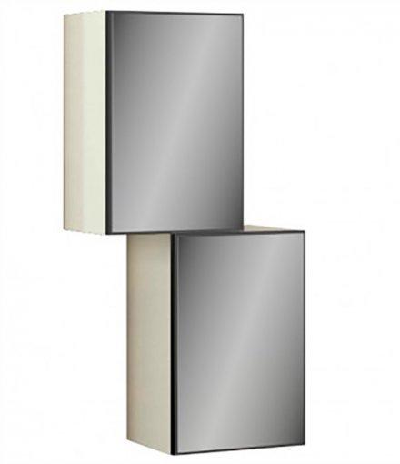 Nicho 2 Portas com Espelho TB99E Dalla Costa Off White