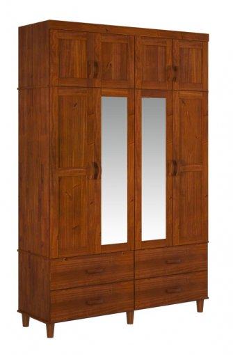 Roupeiro Tripartido Ecco Finestra 8 Portas Ref: 1114