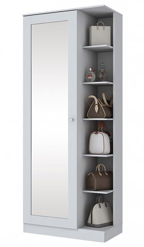 Sapateira Henn Duetto 01 Porta C/Espelho Branco HP