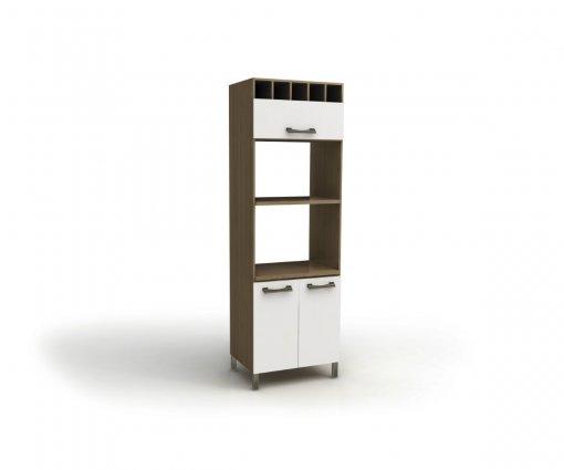 Torre Quente Para Forno e Microondas Kappesberg D729 3 Portas Nature com Branco