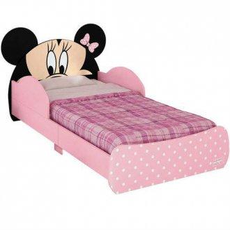 Imagem -  Mini Cama Minnie Disney Pura Magia Rosa Preto cód: 35623